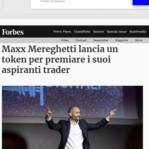 Maxx Token, Forbes elogia Maxx Mereghetti